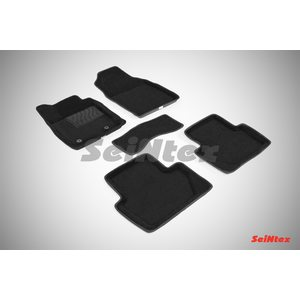 3D ворсовые коврики для FORD ECOSPORT (2014-) Черные