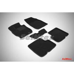 3D ворсовые коврики для NISSAN ALMERA IV (2013-) Черные