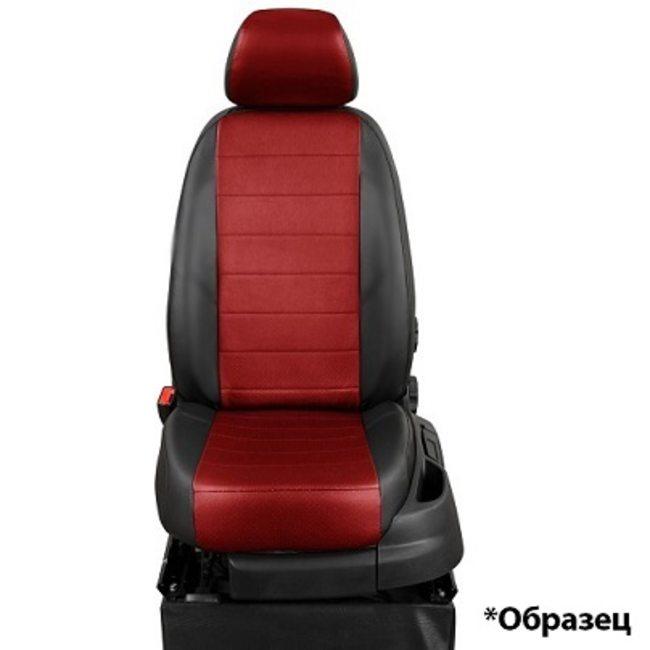 Комплект чехлов из экокожи для Peugeot 308 хэчбек (2008-) (ЭкоЧехлы, эконом)