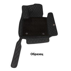 Ковры салона эко-кожа с текстилем MB C204 06> черный/шов черный 5D LUX