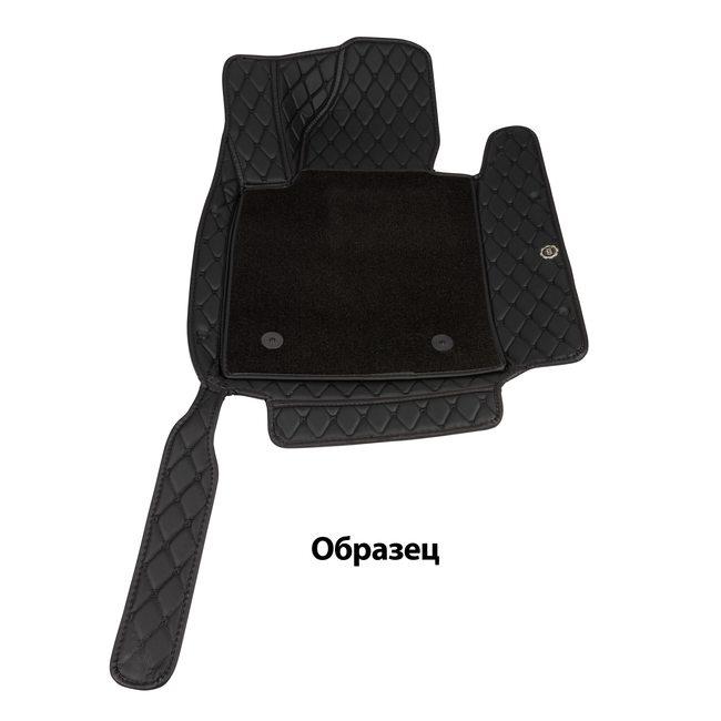 Ковры салона эко-кожа с текстилем Toyota LC 100 98> черный/шов черный 5D LUX