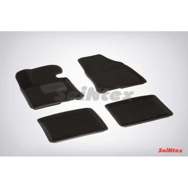 3D ворсовые коврики для HYUNDAI I40 (2012-) Черные