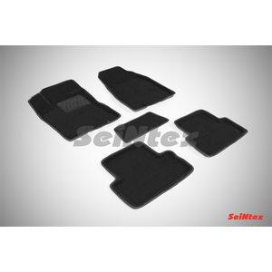 3D ворсовые коврики для NISSAN Х-TRAIL (T31) (2007-2015) Черные