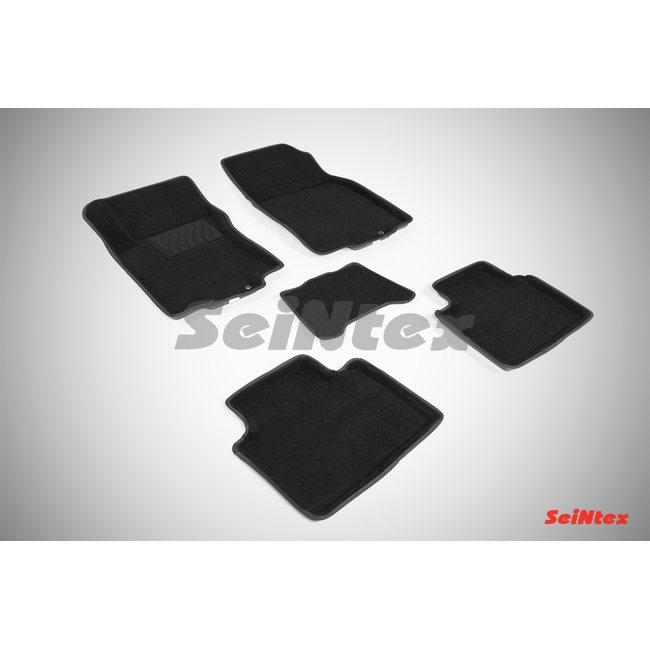 3D ворсовые коврики для NISSAN Х-TRAIL (T32) (2015-) Черные