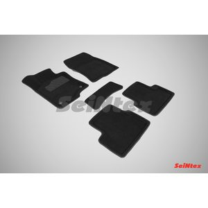 3D ворсовые коврики для HONDA ACCORD VIII (2008-2012) Черные