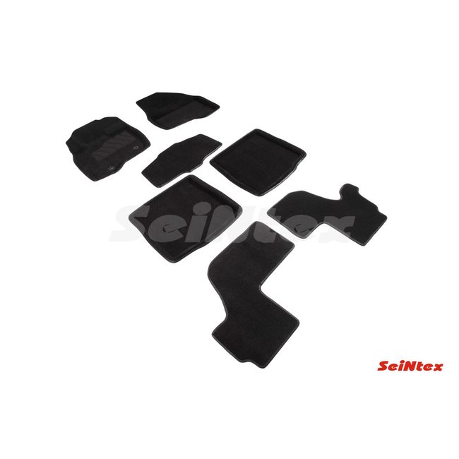 3D ворсовые коврики для FORD EXPLORER V 3,5 SPORT (2010-2015) Черные