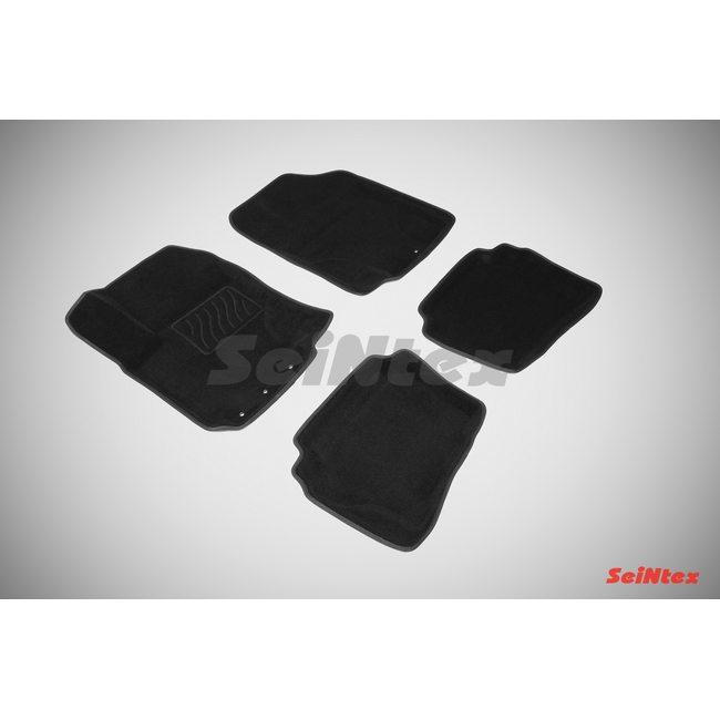 3D ворсовые коврики для HYUNDAI i20 (2008-) Черные