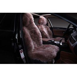 Накидка на сиденья автомобиля из кусков овчины - Длинный ворс